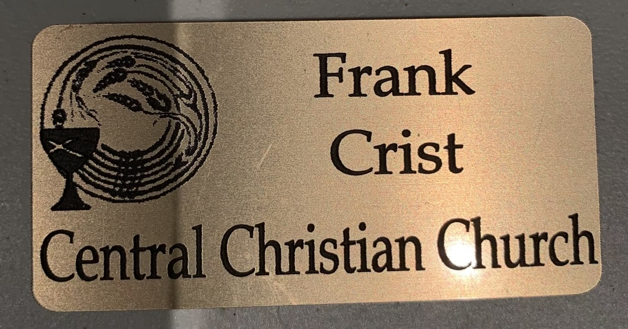 Frank's dad's nametag